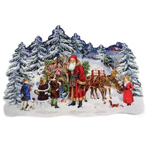 "Christmas 12.0"" Santas Forest Sleigh Advent Calendar Victorian  -  Advent Calendar - image 1 of 3"