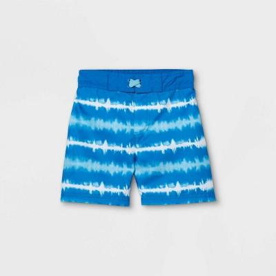 Toddler Boys' Tie-Dye Striped Swim Trunks - Cat & Jack™ Blue