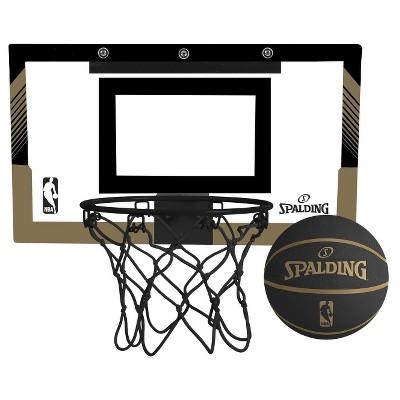 Superieur Spalding NBA Slam Jam Over The Door Black U0026 Gold Edition Basketball Hoop