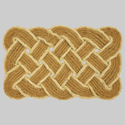 18  x 30  Rectangle Braided Outdoor Doormat Ivory - Threshold™