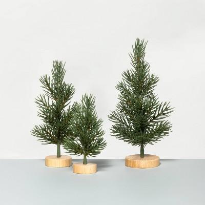 3ct Mini Pine Tree Set - Hearth & Hand™ with Magnolia