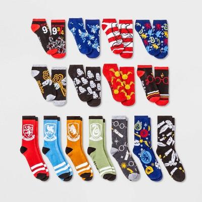 Women's Harry Potter Snow Globe 15 Days of Socks Advent Calendar - Assorted Colors 4-10
