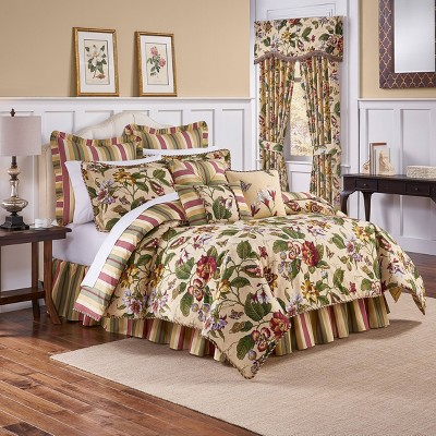 Waverly Laurel Springs Queen 4pc Comforter Set Parchment