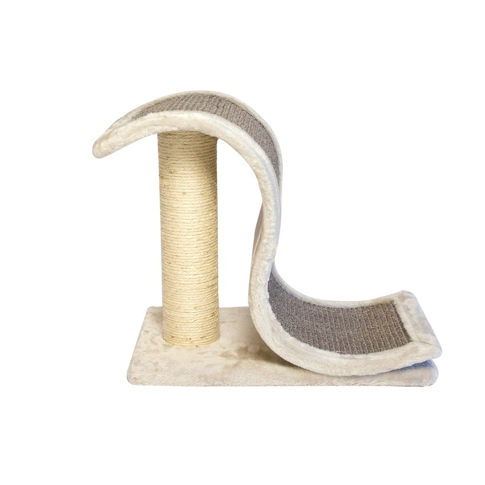 Iconic Pet Scratch & Slide Cat Toy, Gray