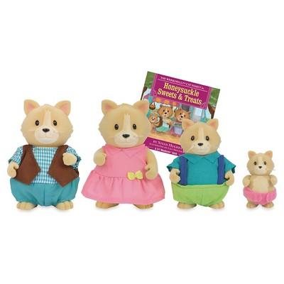 Li'l Woodzeez Miniature Animal Figurine Set - Whiskerelli Cat Family