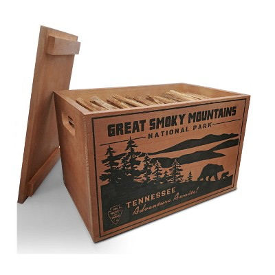 Better Wood Products Limited Edition Protect the Parks Series All Natural Fatwood Fire Starter Sticks, 13 Pound Wooden Crate, Great Smoky Mountains