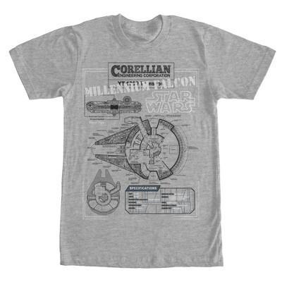 Men's Star Wars Millennium Falcon Details T-Shirt