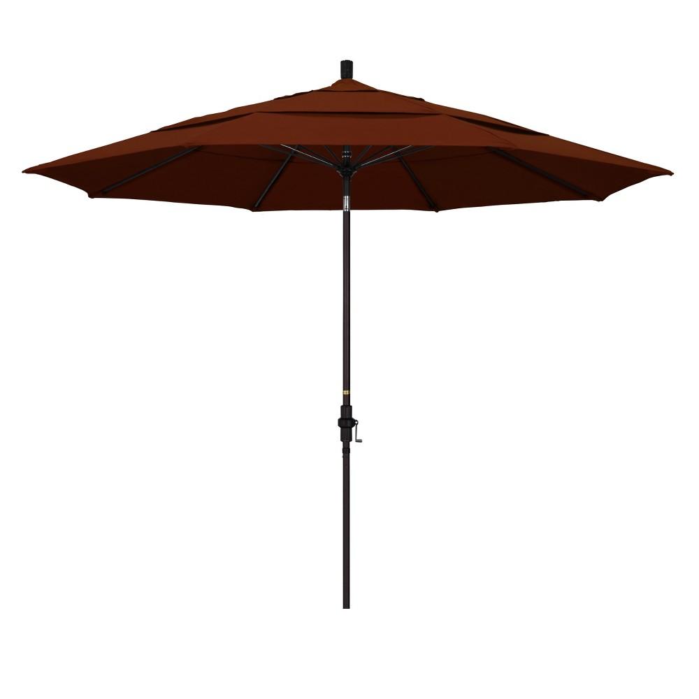 11' Aluminum Collar Tilt DV Patio Umbrella - Brick