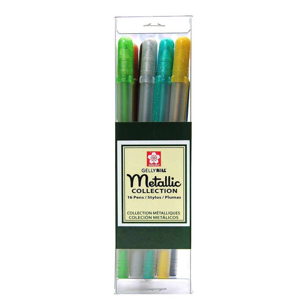 Image of Gelly Roll Gel Pen Metallic 16ct - Sakura