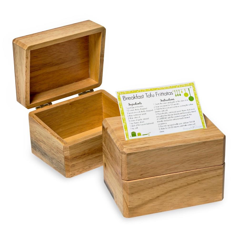 Honey Can Do Wood 3x5 Recipe Card Box