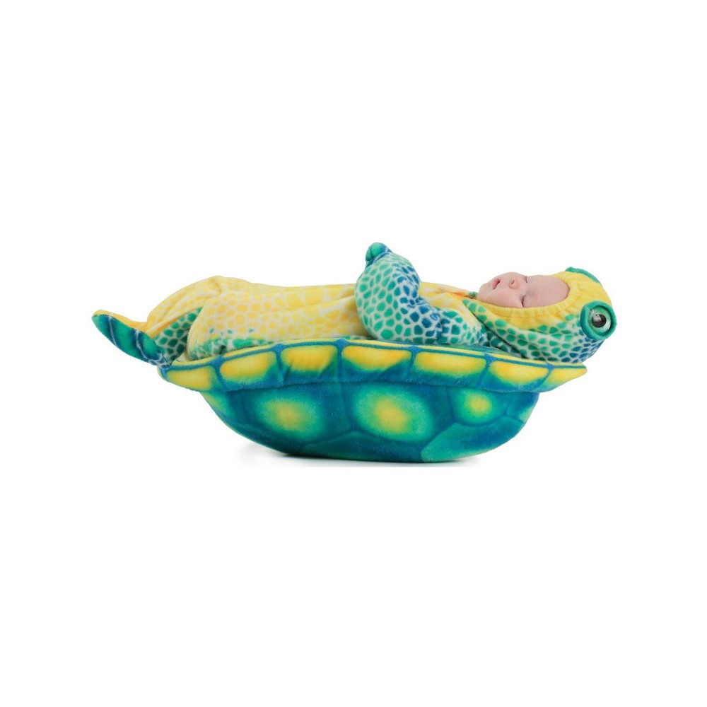 Image of Halloween Anne Geddes Baby Girls' Sea Turtle Halloween Costume - Princess Paradise, Kids Unisex, Size: Small, MultiColored