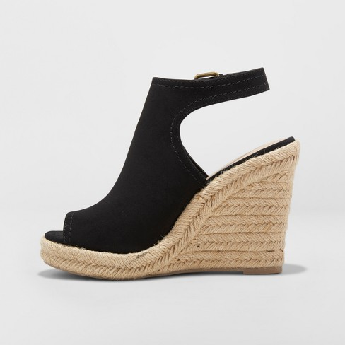 3d51c3dba672 Women s Mala Shield Espadrille Wedge Sandals - Universal Thread™   Target