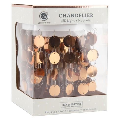 Locker Style Chandelier Led Light Decoration Rose Gold