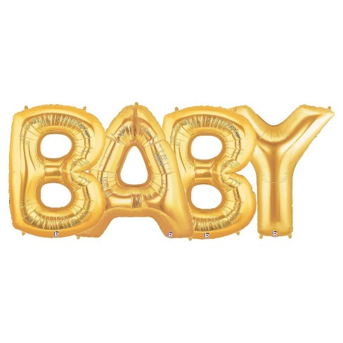 Jumbo Gold Foil Balloons - Baby - image 1 of 1