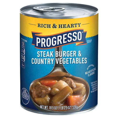 Progresso Rich & Hearty Steak Burger & Country Vegetables Soup 18.5 oz - image 1 of 1