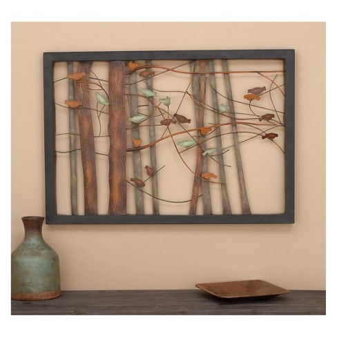 Metal Birds and Trees Decorative Wall Art 27 X 39 - Olivia & May ...