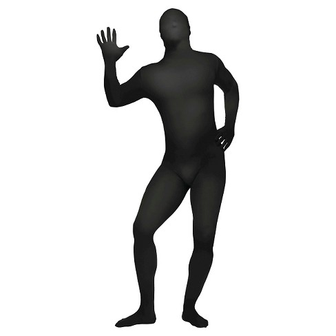 Men's Skin Suit Costume Black - One Size Fits Most - image 1 of 1