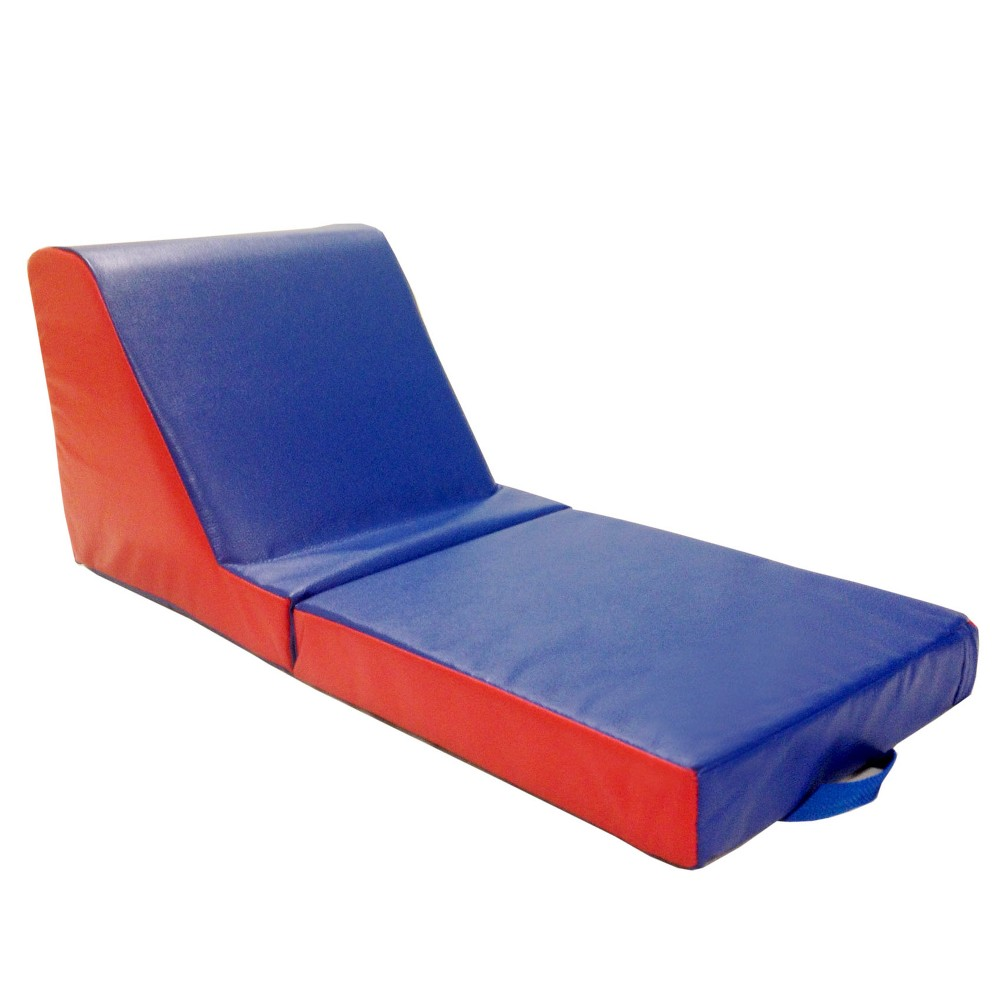 SoftZone Carry Me Chaise Lounge - 2pc, Blue/Red