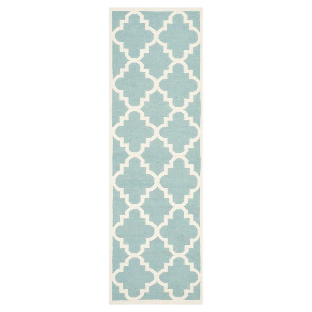 Mazagan Dhurry Rug - Light Blue/Ivory - (2'6x8') - Safavieh