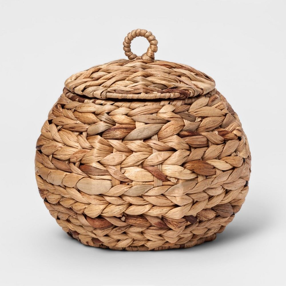Woven Bath Canister Natural - Threshold