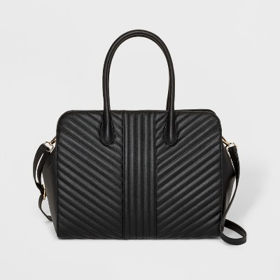 Quilted Tote Handbag - A New Day™ Black