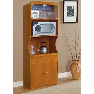 Microwave Cabinet Cherry - Home Source, Brown