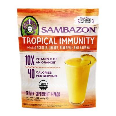 Sambazon Tropical Immunity Superfruit Frozen Packs - 14.1oz