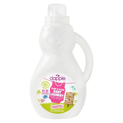 Dapple 2x Baby Laundry Detergent, Fragrance Free (32 Load)- 50oz