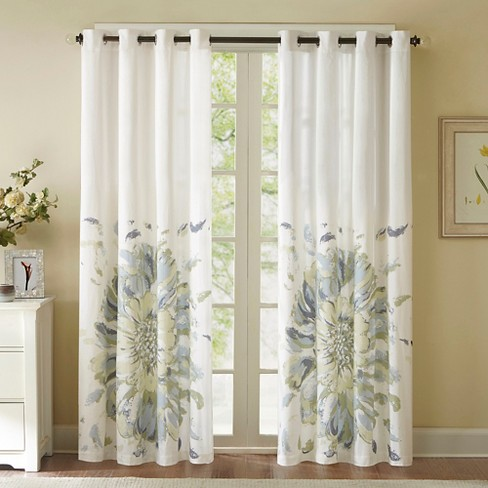 Mya Floral Watercolor Curtain Panel - image 1 of 2