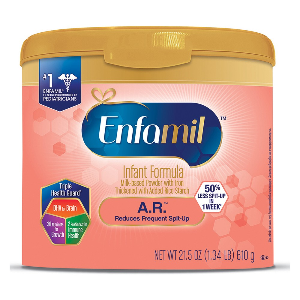 Enfamil 4pk A.R. Infant Formula Powder Tub - 21.5oz
