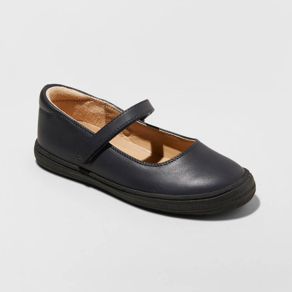 Image of Girls' Omega Mary Jane Shoes - Cat & Jack Navy 2, Girl's, Blue