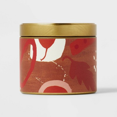4oz Mini Grab Tin with Patterned Wrap Label Sugared Cinnamon Candle - Opalhouse™