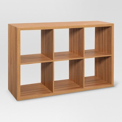 "13"" 6 Cube Organizer Shelf Natural - Threshold™"