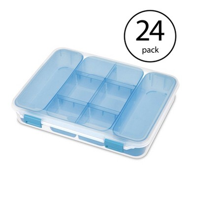 Sterilite 14028606 Divided Storage Case for Crafting and Hardware (24 Pack)