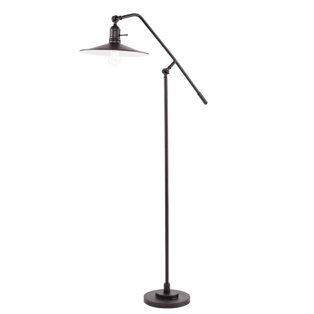 Image of Angus Floor Lamp Black (Includes Energy Efficient Light Bulb) - Aiden Lane, Matte Black