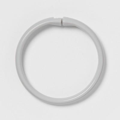 Plastic Shower Rings Gray - Room Essentials™