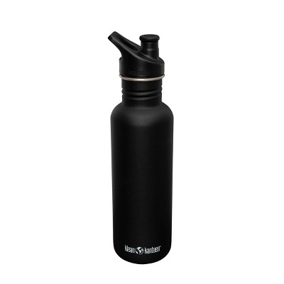 Klean Kanteen 27oz Classic Stainless Steel Water Bottle with Sports Cap - Matte Shale Black