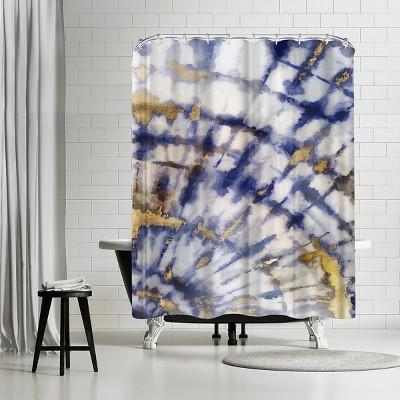 "Americanflat Tye Dye Ii by Pi Creative Art 71"" x 74"" Shower Curtain"