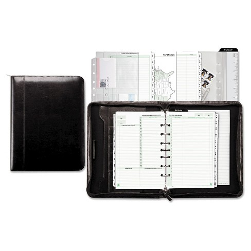 Day-Timer® Aristo Bonded Leather Starter Set, 5 1/2 x 8 1/2, Black - image 1 of 1