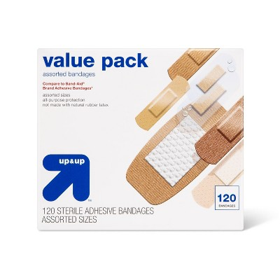 Assorted Bandages Value Pack - 120ct - up & up™