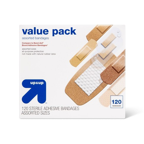 Assorted Bandages Value Pack - 120ct - up & up™ - image 1 of 4