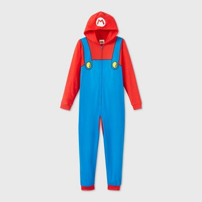 Boys' Super Mario Blanket Sleeper Union Suit