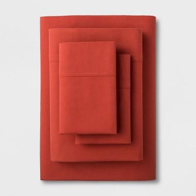 Solid Easy Care Sheet Set (King)Red Orange - Made By Design™