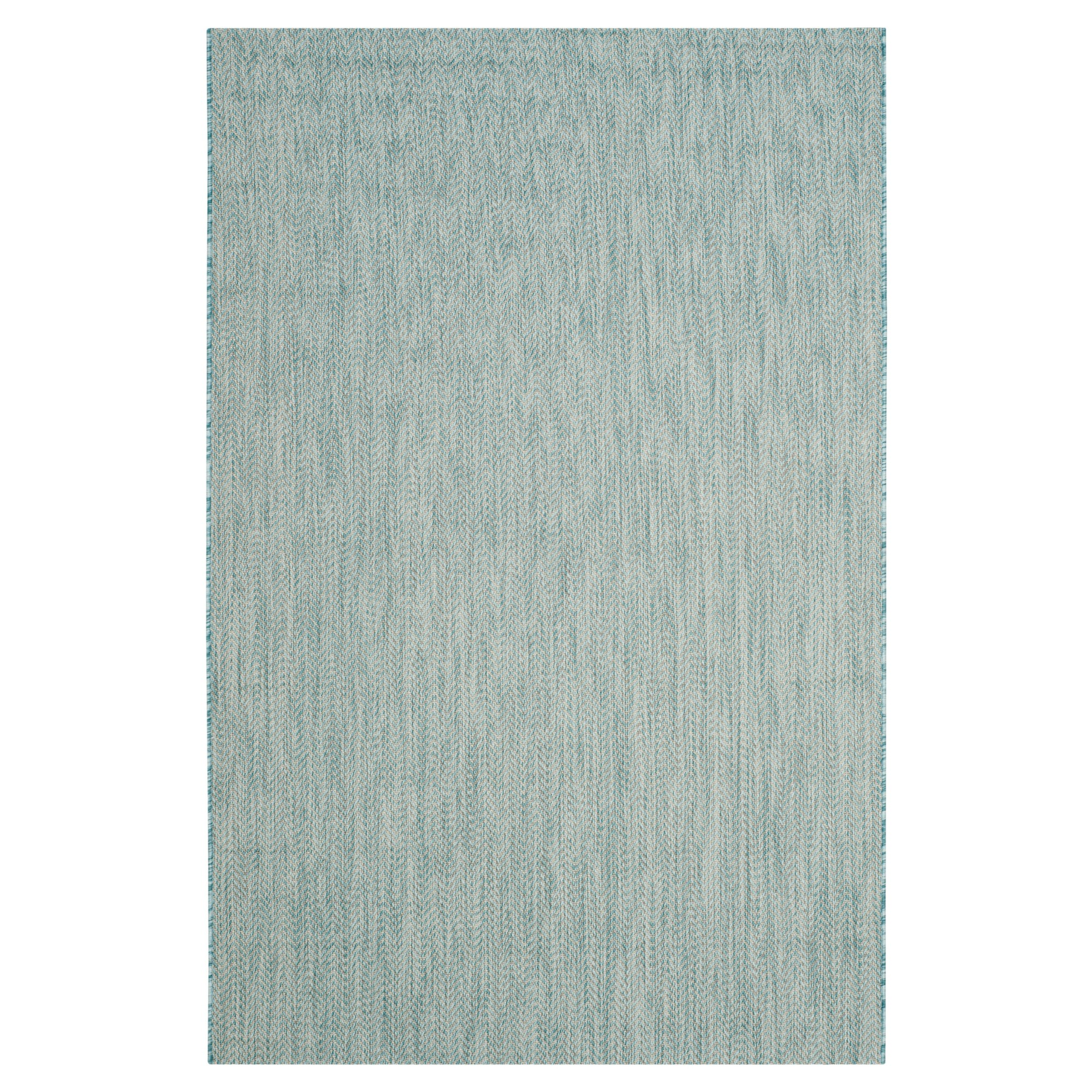 Positano Rectangle 4' X 5'7 Outdoor Rug - Aqua / Gray - Safavieh, Blue