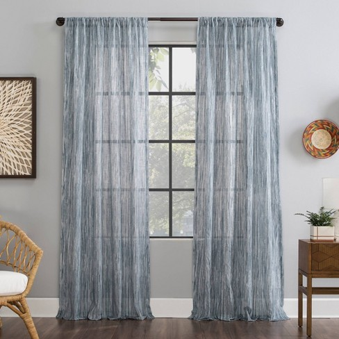 Bamboo Stripe Cotton Sheer Curtain - Archaeo - image 1 of 4