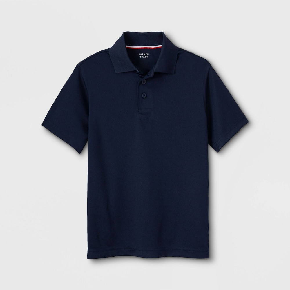 Image of French Toast Boys' Sport Uniform Polo Shirt - Navy S, Boy's, Size: Small, Blue