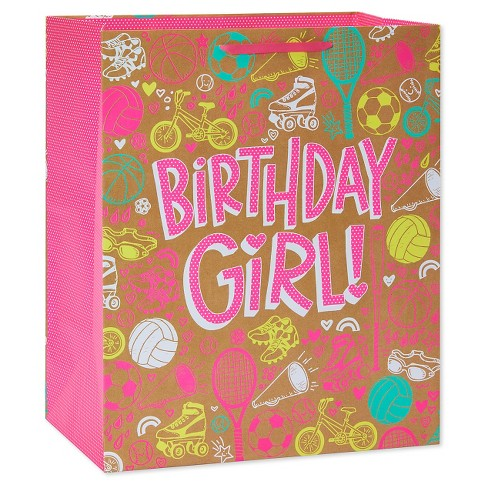 Jumbo Gift Bag Birthday Girl Sports