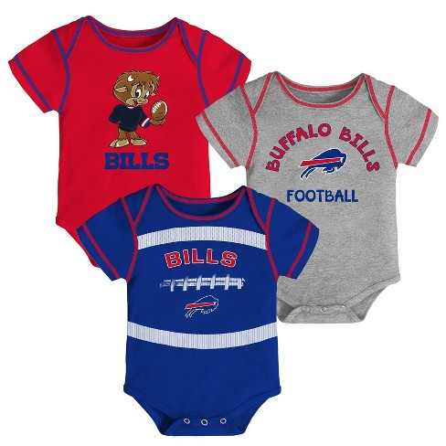19271669 NFL Buffalo Bills Baby Boys' Newest Fan 3pk Bodysuit Set