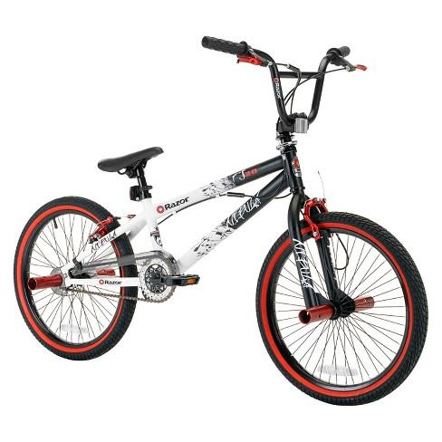 5e546d1e1a7b2 Kids Razor Nebula Freestyle BMX Bicycle - Black  Red  White (20
