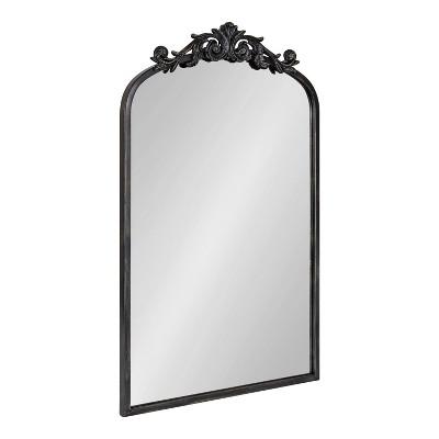 "19"" x 30.7"" Arendahl Arch Wall Mirror Black - Kate & Laurel All Things Decor"